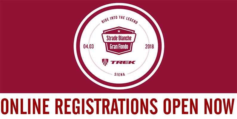 3.000 riders have already registered to GF Strade Bianche!
