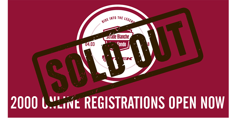 Sold out the first 2000 online registrations